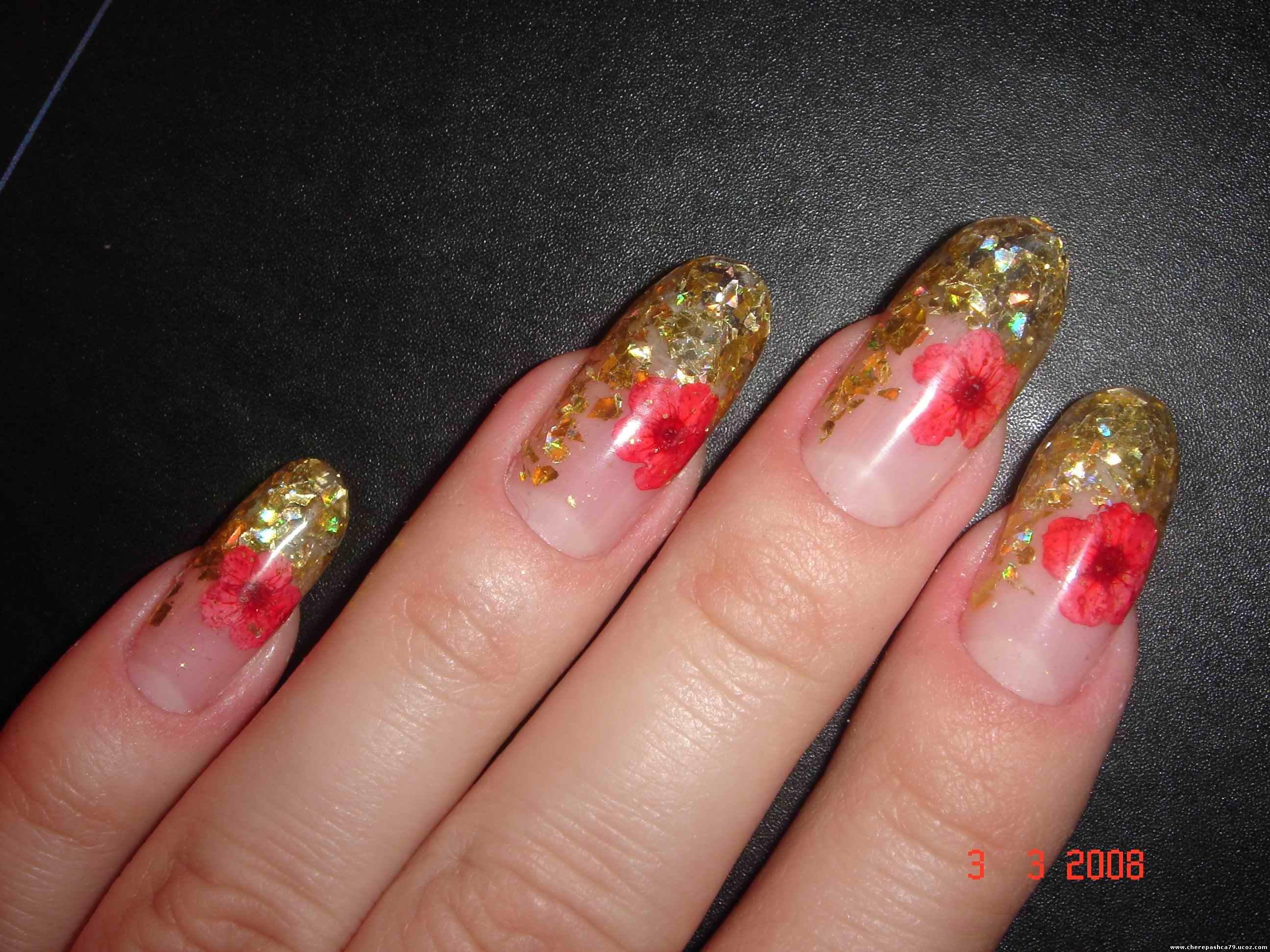 Дизайн ногтей Сухоцветы галерея фото, аквариумный дизайн с 38