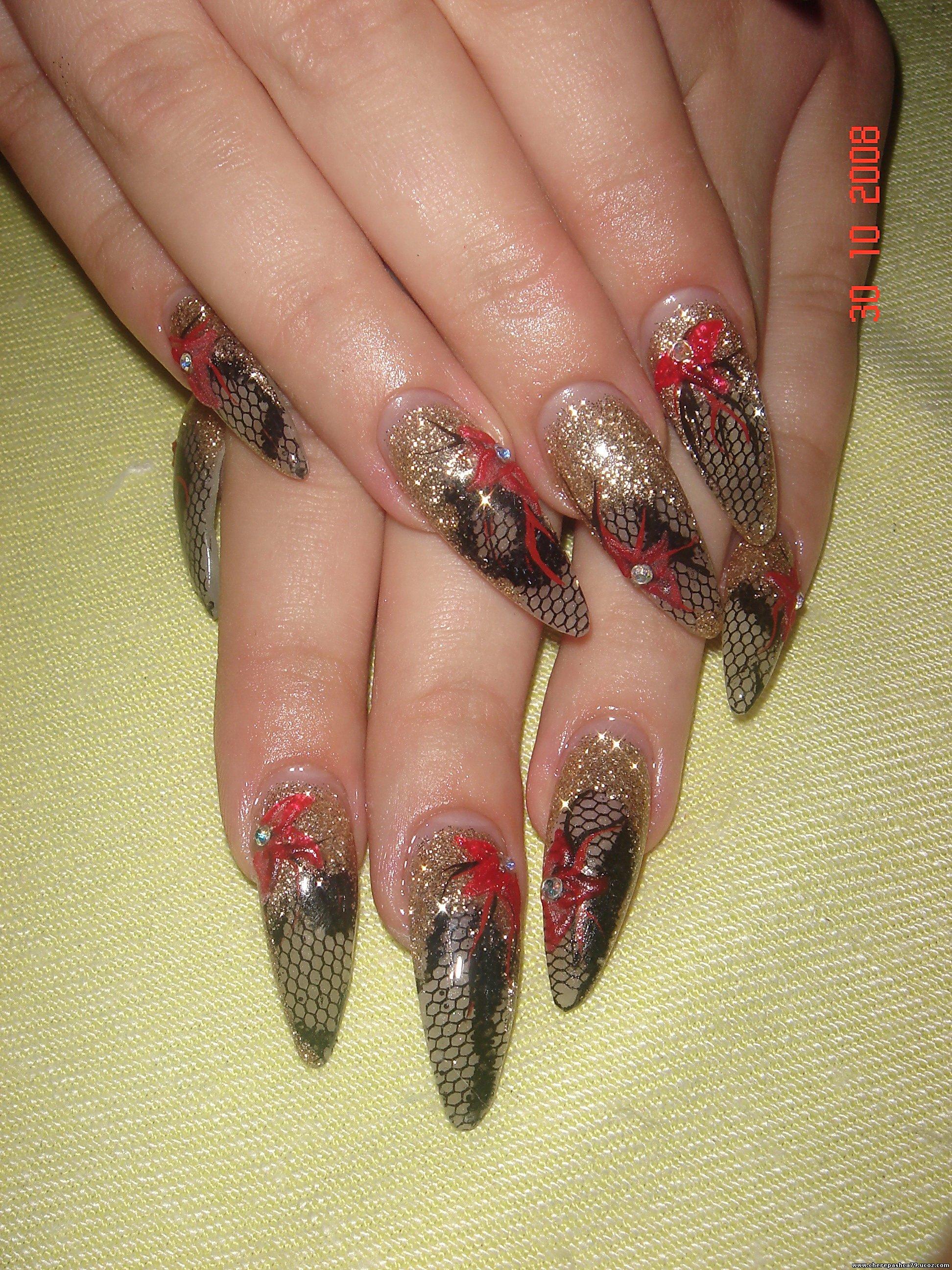 Акрилом дизайн ногтей фото