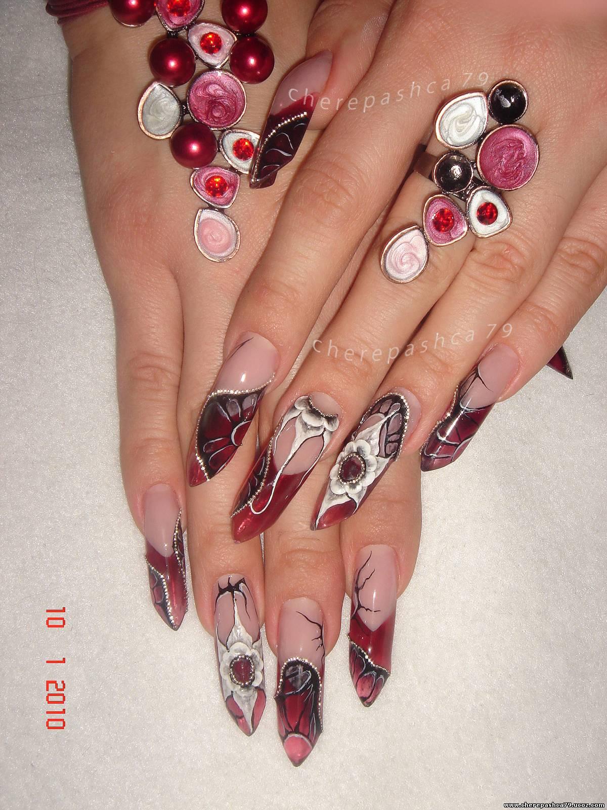 Витражные ногти фото и гели