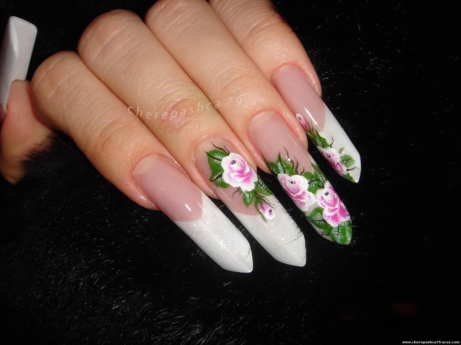 Нарощенные ногти пайп фото дизайн